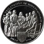 Declaration Of Independence Proof Sterling Silver Round (.96 oz ASW)