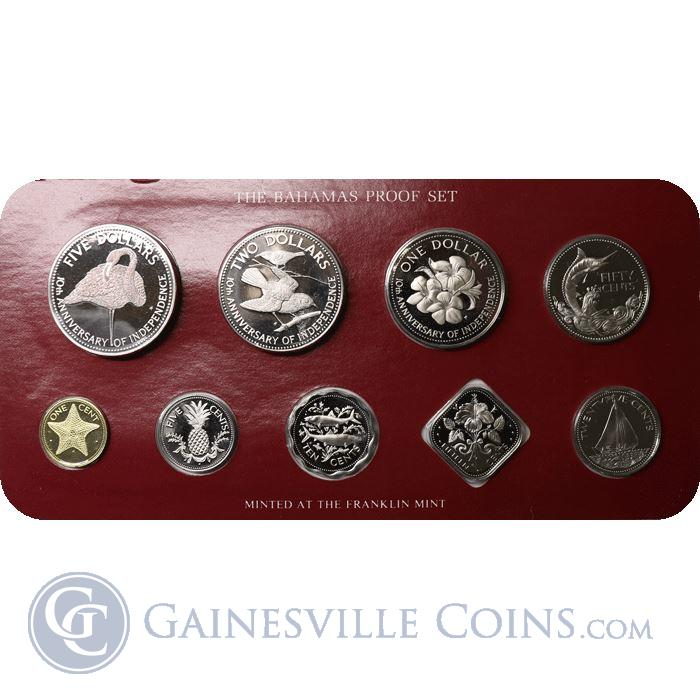 Image Showcase for 1983 Bahamas 9-Coin Proof Set
