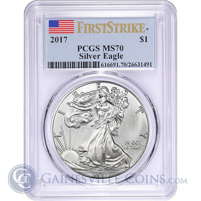 Image Showcase for 2017 American Silver Eagle PCGS MS70 First Strike