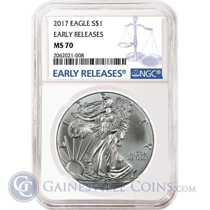 Image Showcase for 2017 American Silver Eagle NGC MS70 Early Releases