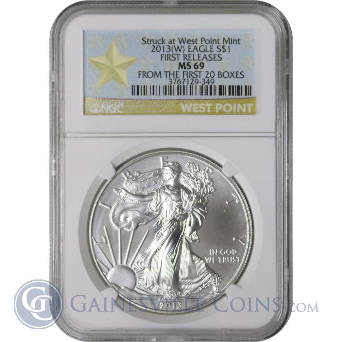 Image Showcase for 2013-W American Silver Eagle NGC MS69 First Release (Coin From 1st 20 Boxes Of Silver Eagles)