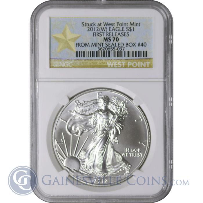 Image Showcase for 2012-W American Silver Eagle NGC MS70 First Release