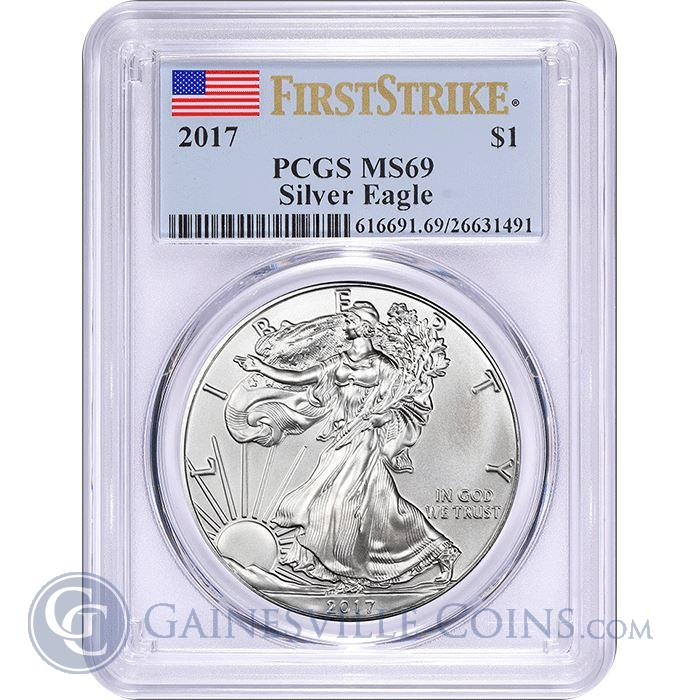 Image Showcase for 2017 American Silver Eagle PCGS MS69 First Strike