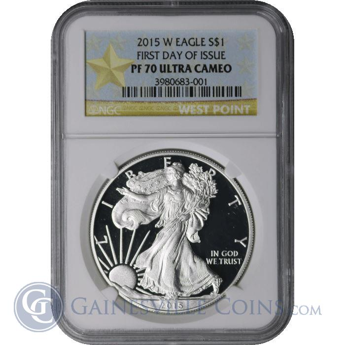 Image Showcase for 2015 W American Silver Eagle NGC PF70 - First Day Of Issue