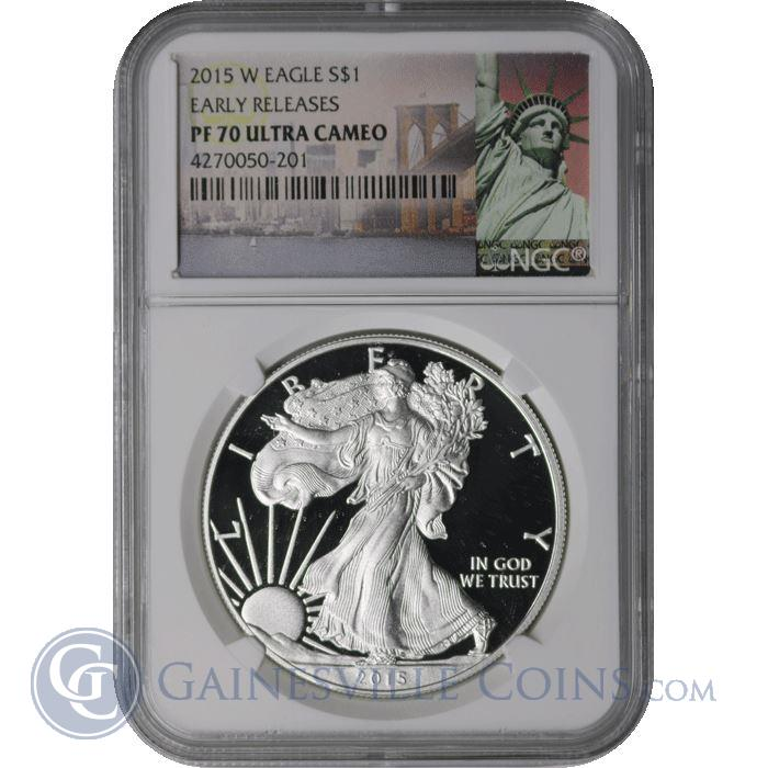 Image Showcase for 2015 W American Silver Eagle NGC PF70 Early Release