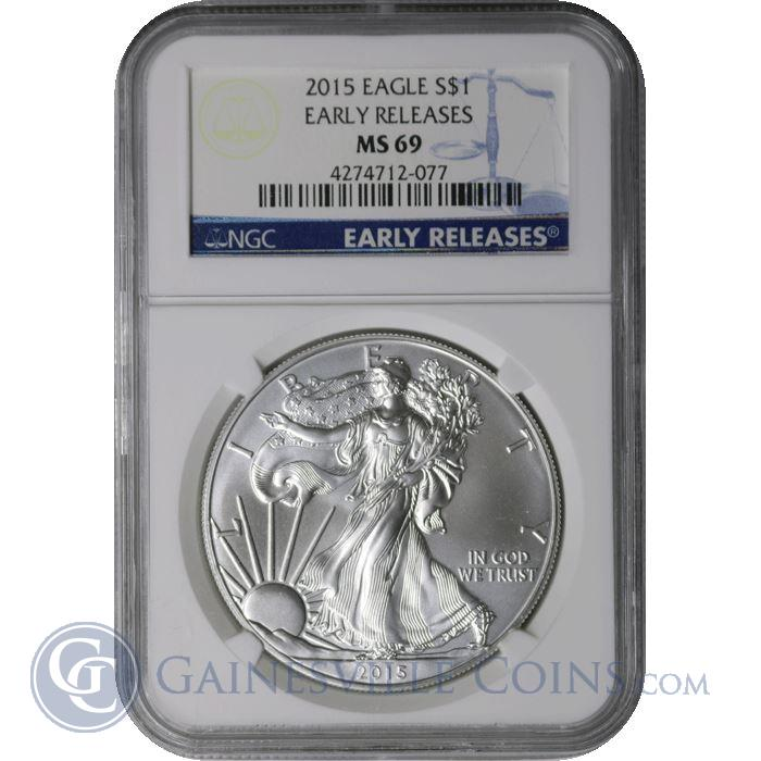 Image Showcase for 2015 American Silver Eagle NGC MS69 Early Release