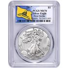 2017 American Silver Eagle PCGS MS70 First Strike - Don't Tread On Me (Gainesville Coins Exclusive)