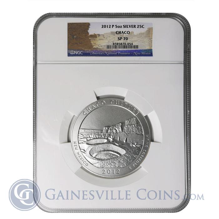 Image Showcase for 2012-P 5 oz Silver America The Beautiful Chaco Culture NGC SP70