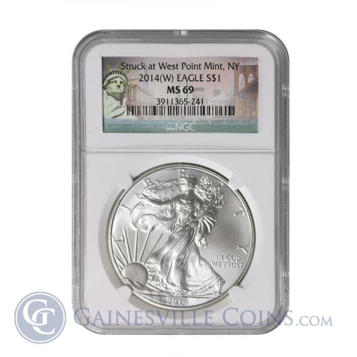 Image Showcase for 2014 (W) American Silver Eagle NGC MS69 - Struck At West Point Mint