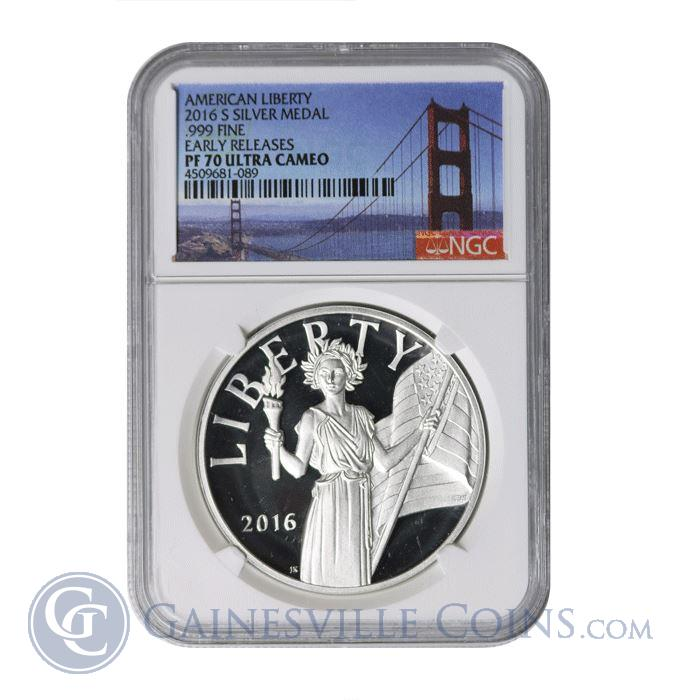 Image Showcase for 2016 W American Liberty Silver Medal NGC PF70 Early Release