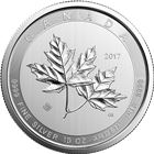 2017 10 oz Canadian $50 Magnificent Maple Leaf .9999 fine silver BU