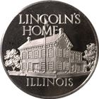 Lincolns Home Illinois Proof Sterling Silver Round (.75 oz ASW)