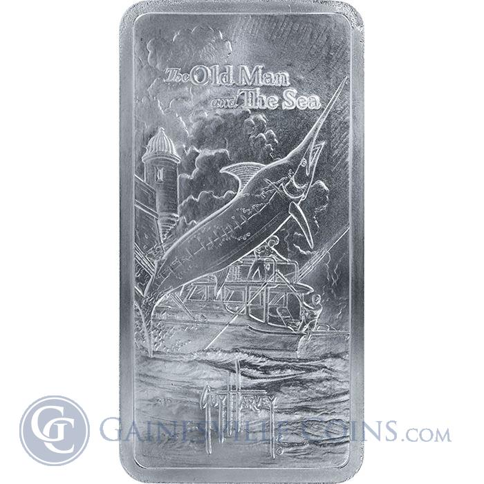 Image Showcase for Guy Harvey© The Old Man and the Sea 10 oz Silver Bar - 2nd Release (.999 Pure)