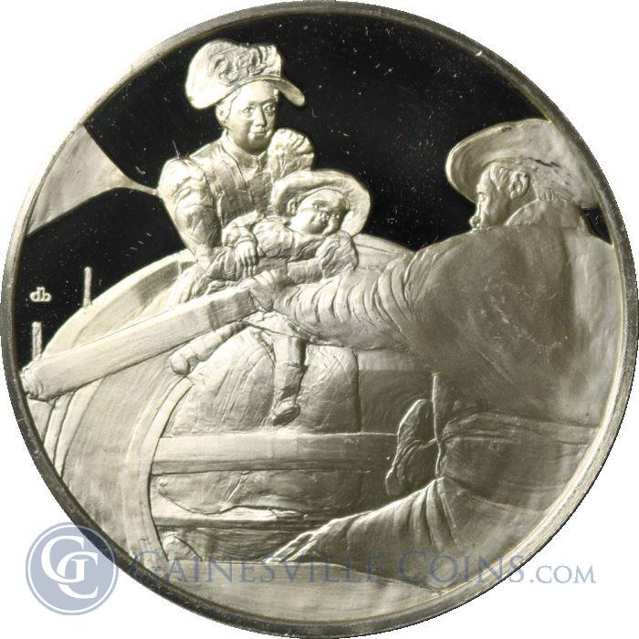 Image Showcase for The Boating Party Proof Sterling Silver Round (.94 oz ASW)