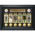 Pittsburgh Steelers 6 Time Super Bowl Champions Deluxe Ticket And Game Coin Collection