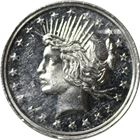 One Silver Trade Unit Peace Dollar Design 1 oz (.999 Pure)
