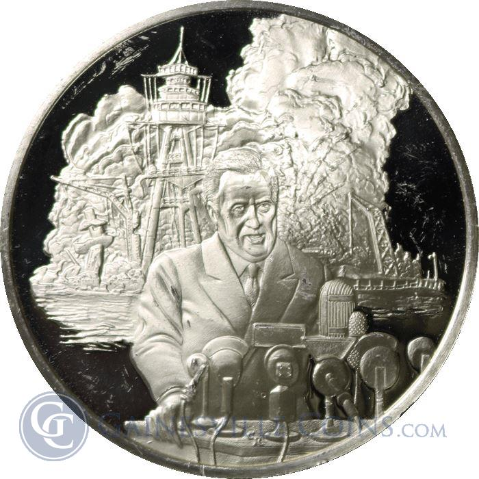 Image Showcase for Wilson League Of Nations Proof Sterling Silver Round (.55 oz ASW)