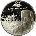 The Treaty Of Washington Proof Sterling Silver Round (.53 oz ASW)