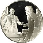 Andrew Johnson Impeached And Tried Before The US Senate Proof Sterling Silver Round (.56 oz ASW)