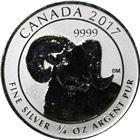 2017 3/4 oz Canadian Reverse Proof Silver Big...
