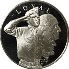Norman Rockwell Boy Scouts Proof Silver Round - A Scout Is Loyal (.82 oz ASW)