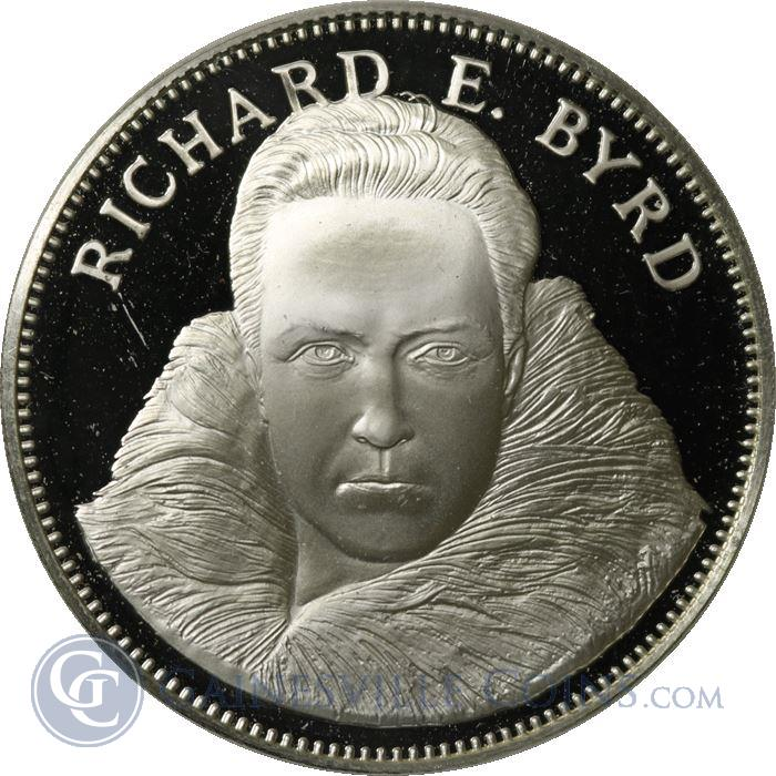 Image Showcase for Richard E Byrd Proof Sterling Silver Round - Freedoms Foundation At Valley Forge (1.08 oz ASW)