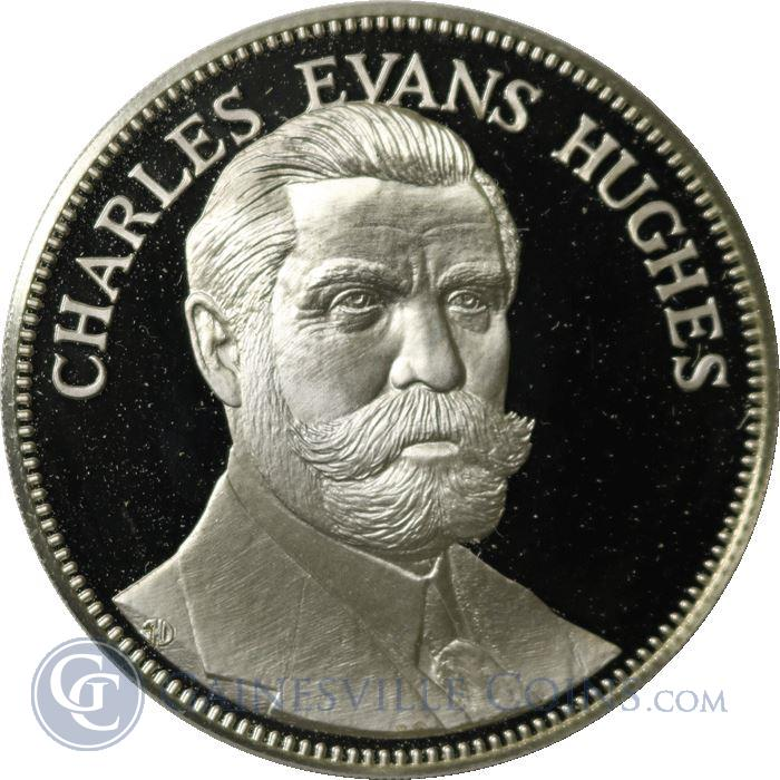 Image Showcase for Charles Evans Hughes Proof Sterling Silver Round - Freedoms Foundation At Valley Forge (1.08 oz ASW)