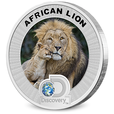 Discovery Channel Reverse Coin - Lion