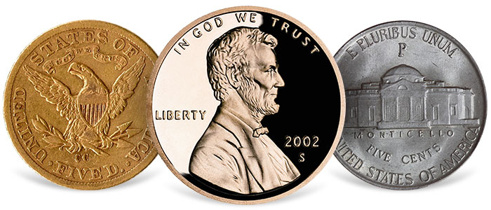 U.S. Coins with mint mark