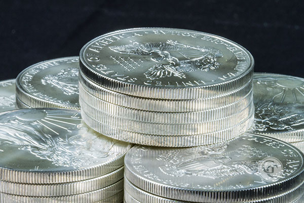 American Silver Eagles Stack