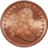 american draped bust copper round