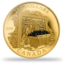 canada coal mining proof coin