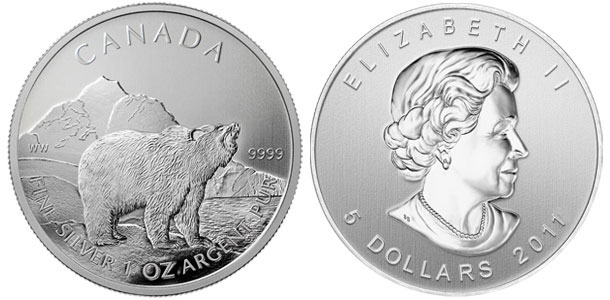 Canadian Silver Grizzly Coin