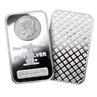 1 oz Morgan Design Silver Bars .999 Fine: Bar Made In The USA