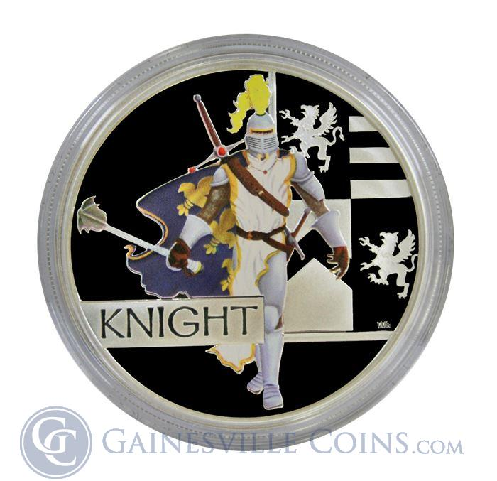 Image Showcase for 2010 Perth Australia Great Warrior Series Knight 1oz Silver Proof Coin