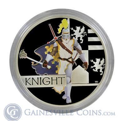2010 Perth Australia Great Warrior Series Knight 1oz Silver Proof Coin