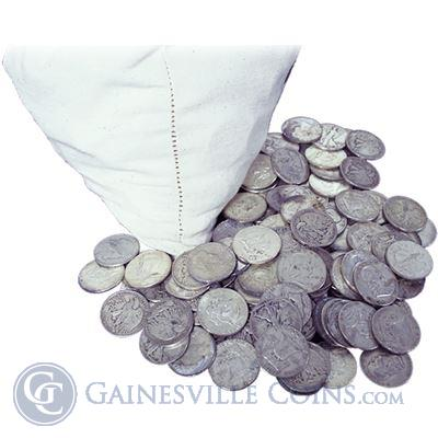 90% Silver Coins - $100 Face Value (coins may consist of quarters, dimes, or halves)