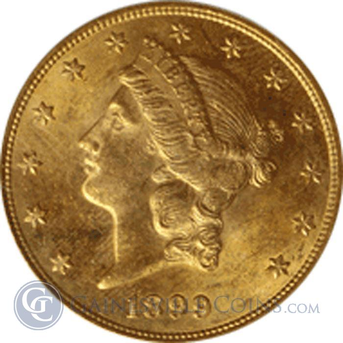 Image Showcase for $20 Liberty Gold Double Eagle (About Uncirculated) Random Date