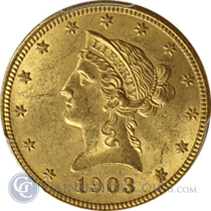Image Showcase for $10 Liberty Gold Eagle (Very Fine) - Random Date