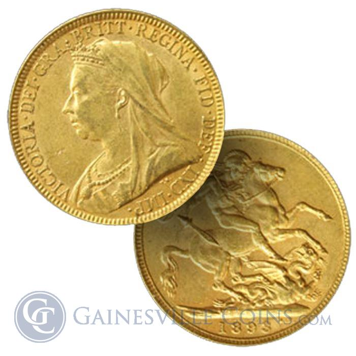 Image Showcase for Gold British Sovereign - (.2354 oz of Gold)