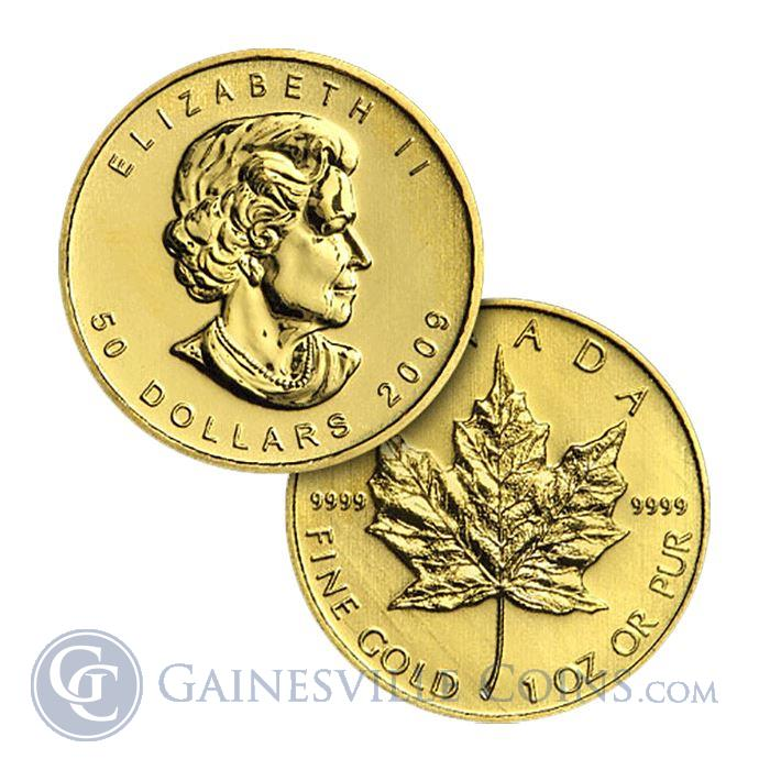 "Image Showcase for 1 Oz Canadian Maple Leaf $50 Gold Coins  Dates of our Choice .999 and .9999 (""Scruffy"")"