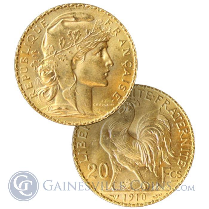 Image Showcase for Gold French 20 Franc Rooster - (.1867 oz of Gold)