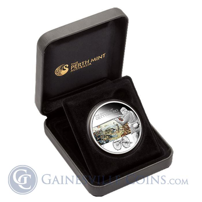 Image Showcase for 2009 Australian Famous Battles in History, Gettysburg 1oz Silver Boxed Set