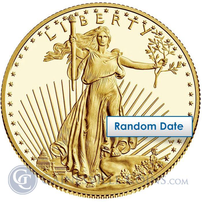 Image Showcase for 1/10 Oz American Gold Eagle Coins $5 (Various Dates)