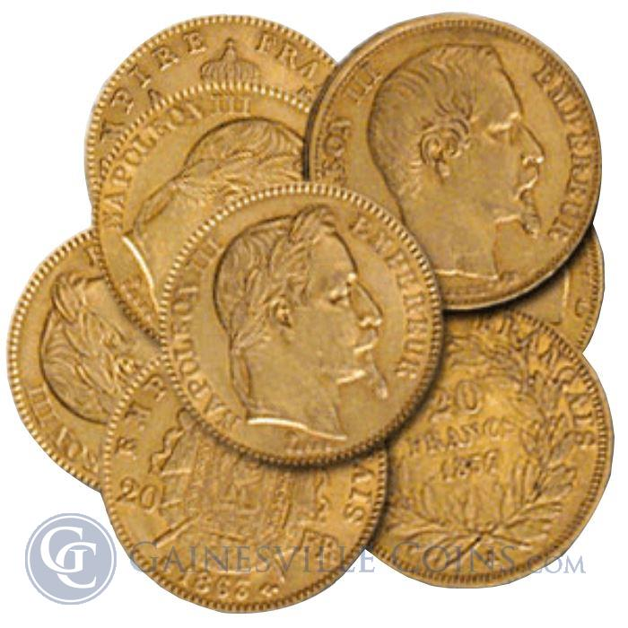Image Showcase for Gold French 20 Francs Napoleon - (.1867 oz of Gold)