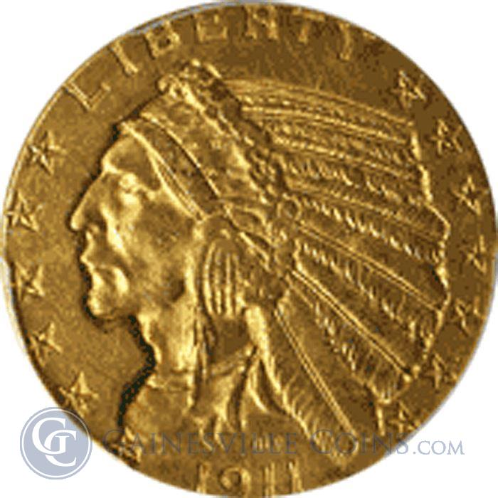 Image Showcase for $5 Indian Gold Half Eagle (About Uncirculated) - Random Date