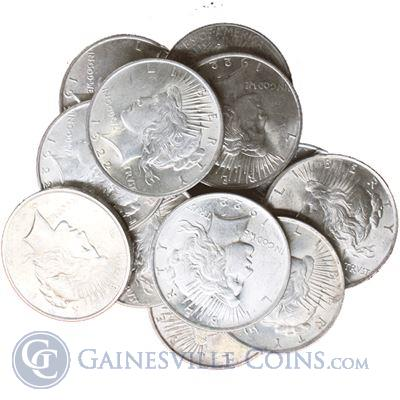 Peace Silver Dollar Uncirculated Common Date