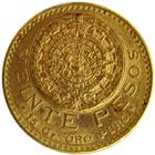 Mexican Gold 20 Pesos Coin (.4823 oz Gold)