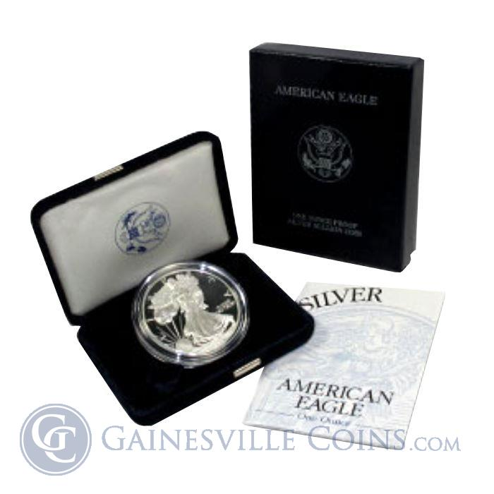 Image Showcase for 1 oz Proof Silver American Eagle Coins - IRA Approved (W/ Box & COA) (Random Date)
