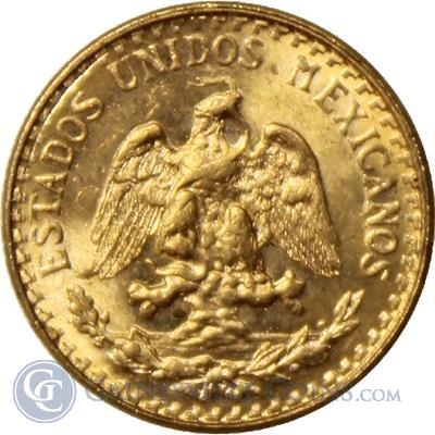 Gold Mexican 2 Pesos  (.0482 oz Gold) - Random Dates